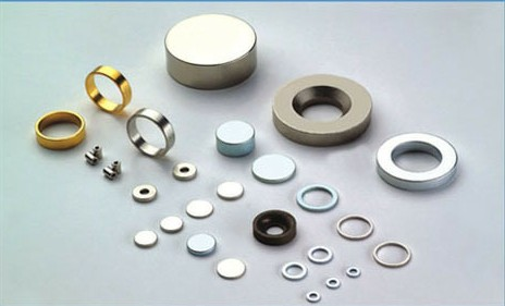 Neodymium(NdFeB) magnets shaped in ring and disc